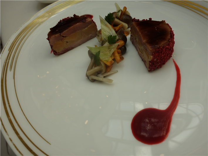 duck foie gras terrine with quail breast