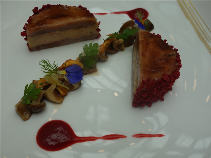 foie gras and quail