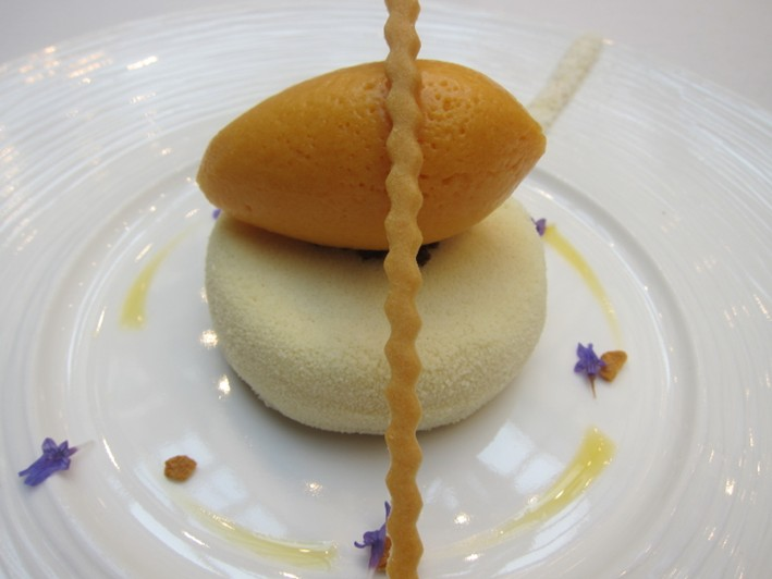 white chocolate and passion fruit