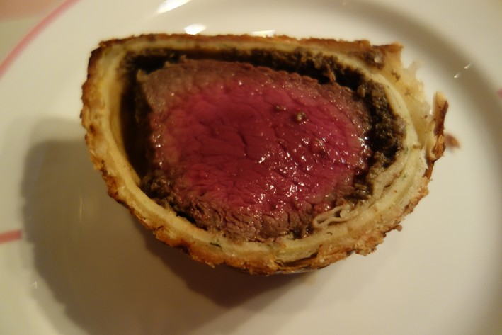 beef wellington cut open