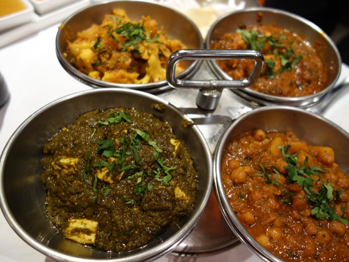 assorted curries