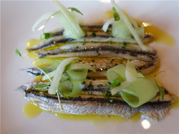 anchovies and cucumber