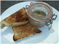 chicken liver parfait and toast