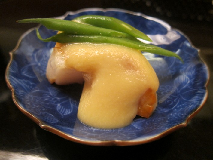 scallop in miso sauce