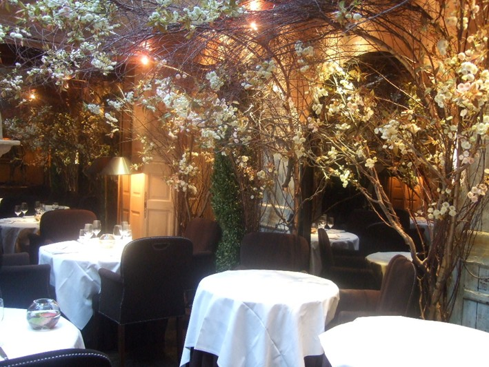 Clos Maggiore restaurant review 2009 November London  : andy hayler clos maggiore courtyard w709 h532 from www.andyhayler.com size 709 x 532 jpeg 138kB