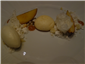 honey apple bavarois with peach