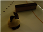 chocolate and praline bar with salted caramel ice cream