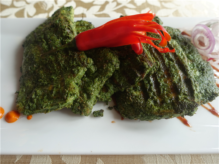 chicken with herb coating