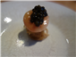 bone marrow and caviar blini