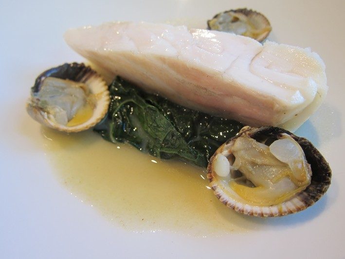 turbot and cockles