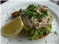 crab and avocado on toast