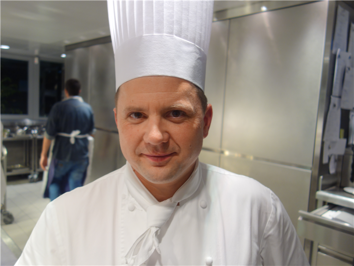 Franck Giovannini when he was chef de cuisine