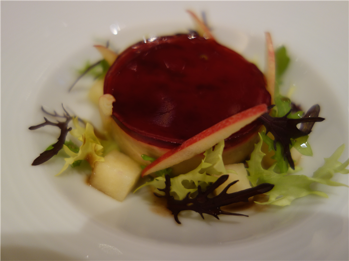 foie gras with hibiscus jelly
