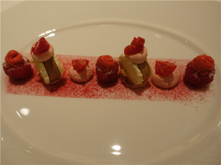 raspberry and cherry plum dessert
