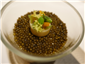 vegetable veloute with caviar