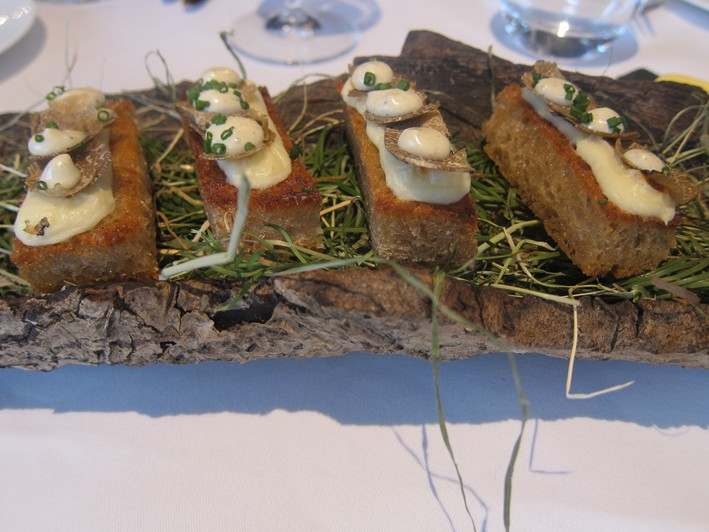 truffled sourdough toast