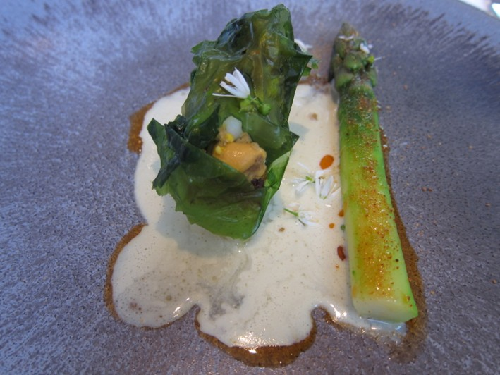 turbot and asparagus