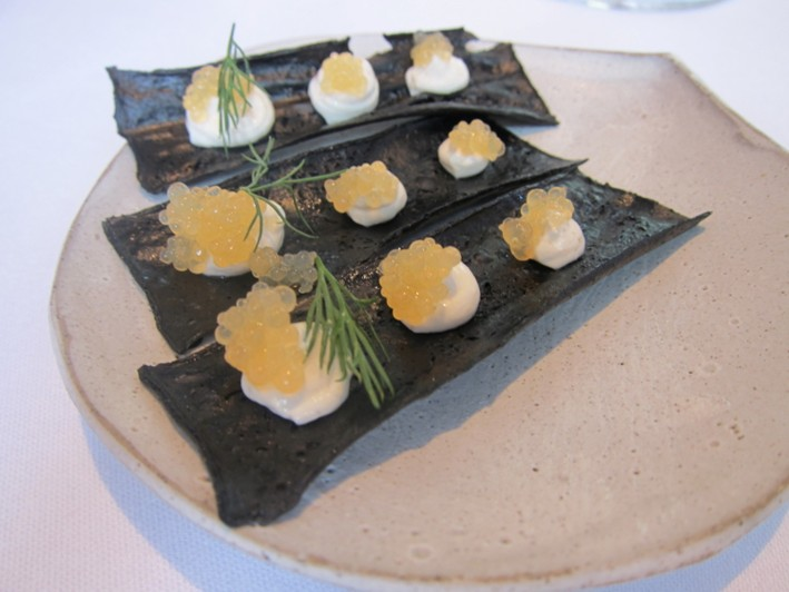 turbot roe and lime