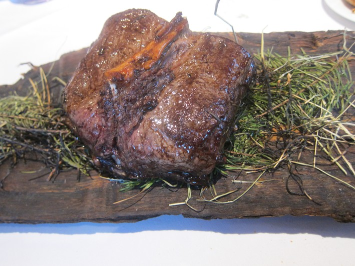 venison cooked in hay