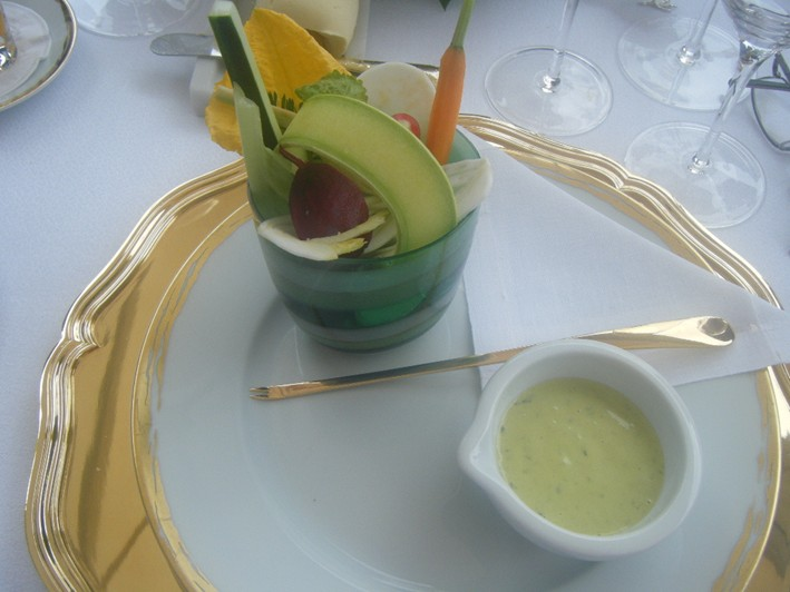 crudites with dip