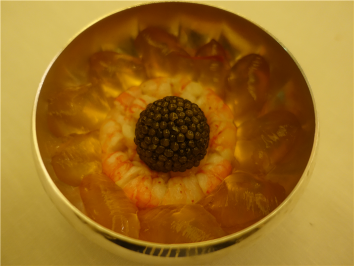 gamberoni and caviar