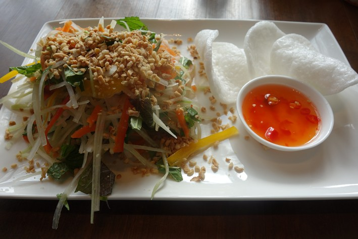 papaya salad with prawn