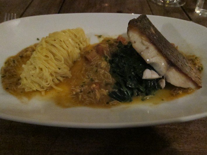 stione bass with linguine