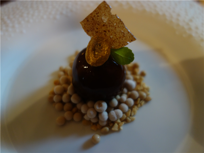 Landes goose liver with cherries