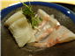 turbot and sea bass sashimi