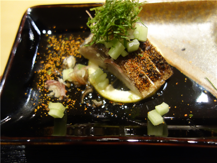 seared mackerel